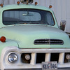 This Studebaker truck was parked next to the sign.  From photos I found on the internet I would say it is a 57' or 58' Transtar.